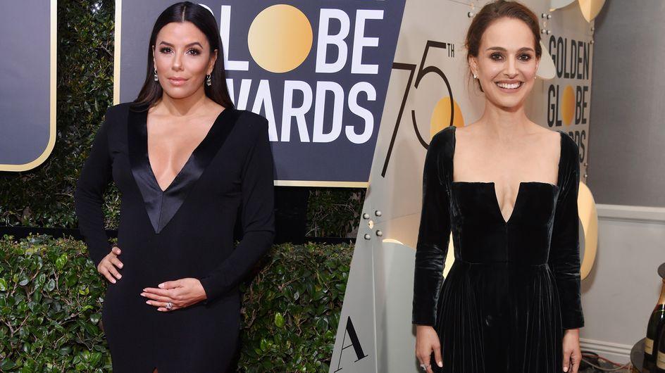 Eva Longoria, Natalie Portman... les stars toutes vêtues de noir pour les Golden Globes
