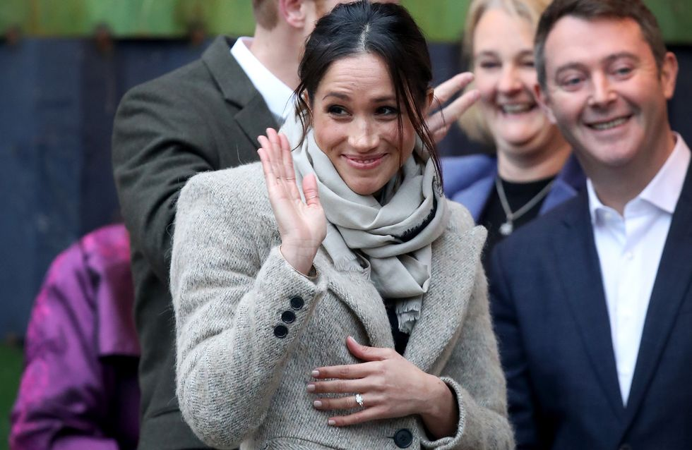 Meghan Markle, une deuxième apparition sobre mais chic au bras du prince Harry (Photos)