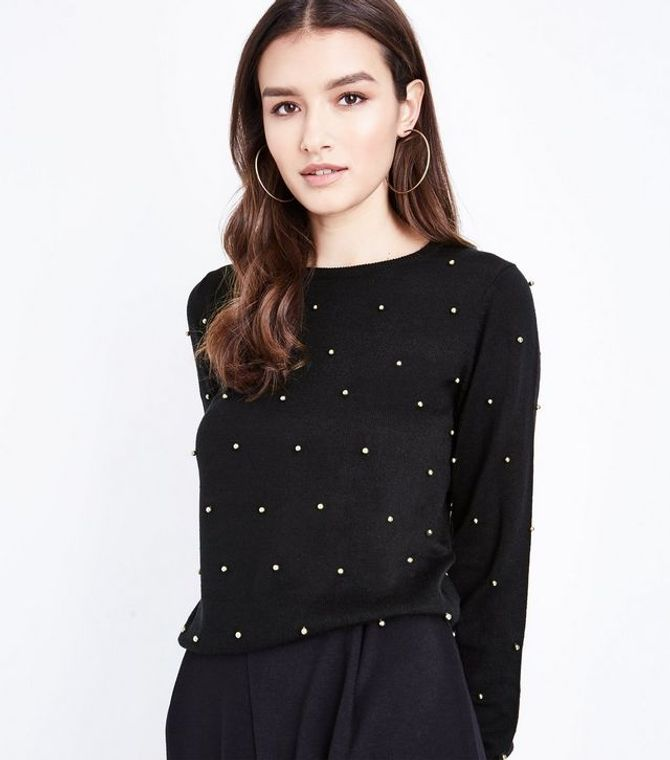 Pull à perles, New Look, 12€