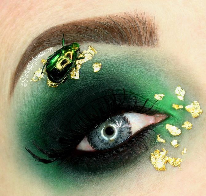 Maquillage insecte