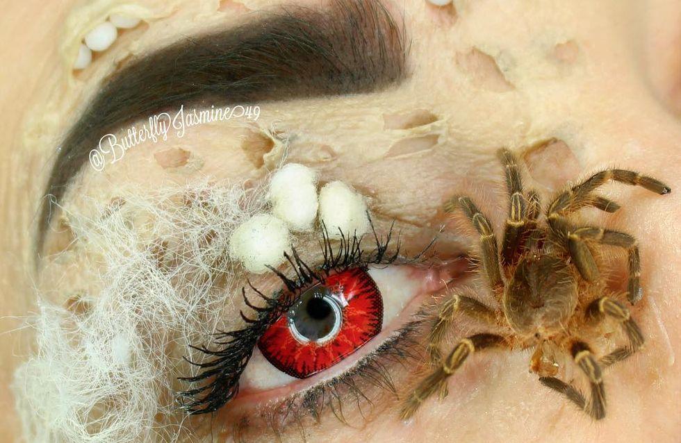 WTF ? Elle utilise de VRAIS insectes pour se maquiller (Photos)