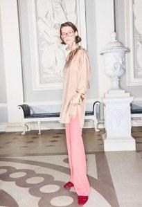 Le mannequin Giedre Dukauskaite pour la campagne de Victoria Beckham