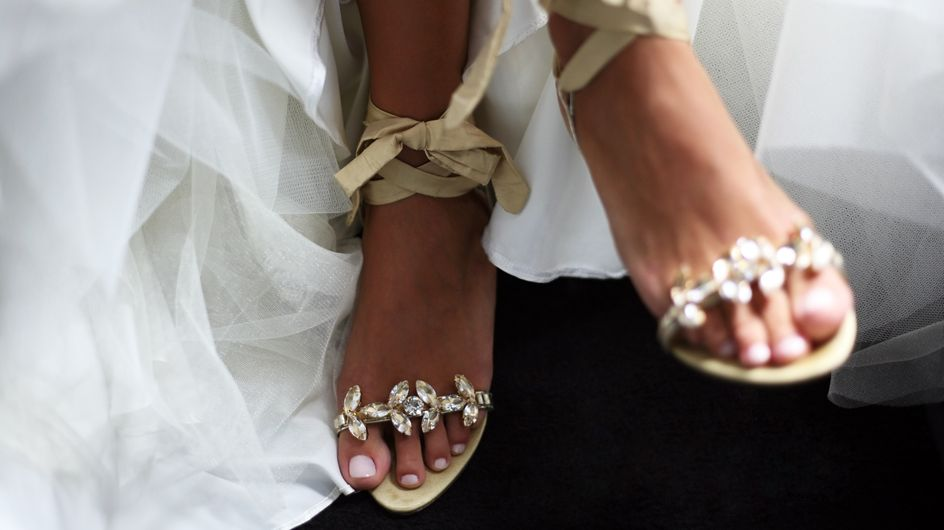 160 paires de chaussures qui brillent, pour étinceler le jour de son mariage