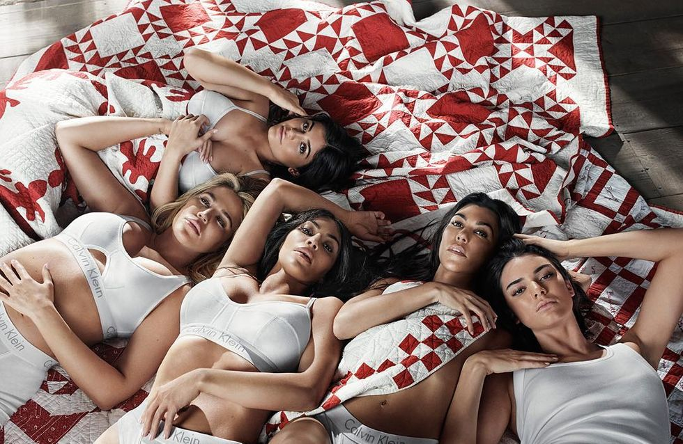 Les soeurs Kardashian posent toutes ensemble en lingerie pour Calvin Klein (Photos)