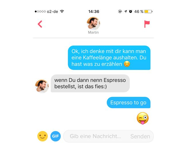 Tinder match kein chat