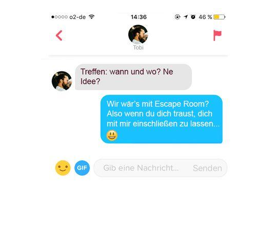 Dating app erste nachricht