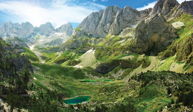 Le Mont Jezerca, Alpes, Albanie