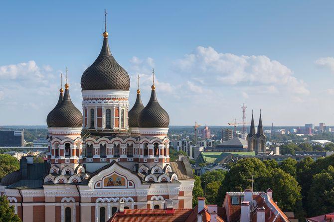 Cathédrale Alexandre Nevski à Tallinn, Estonie