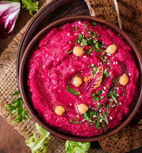 La recette du houmous à la betterave rouge, super tendance et healthy !