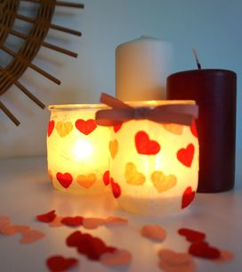 DIY : un joli photophore rempli d'amour