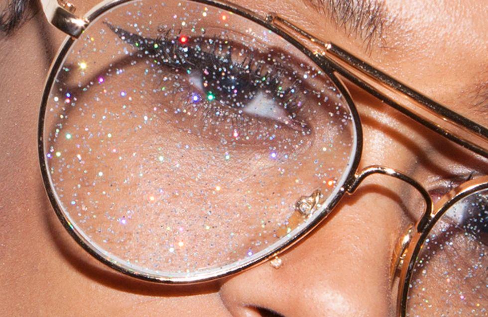 Et si vous adoptiez des lunettes aux verres pailletés ?