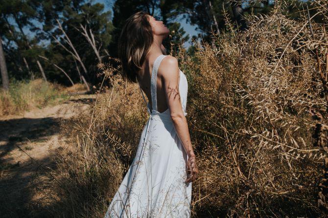 Robe bain de soleil détails dentlle, modèle Cléo, Lorafolk