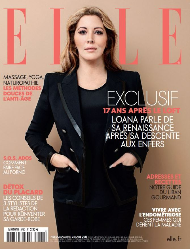 Loana, rayonnante en couverture du magazine Elle (Photos)