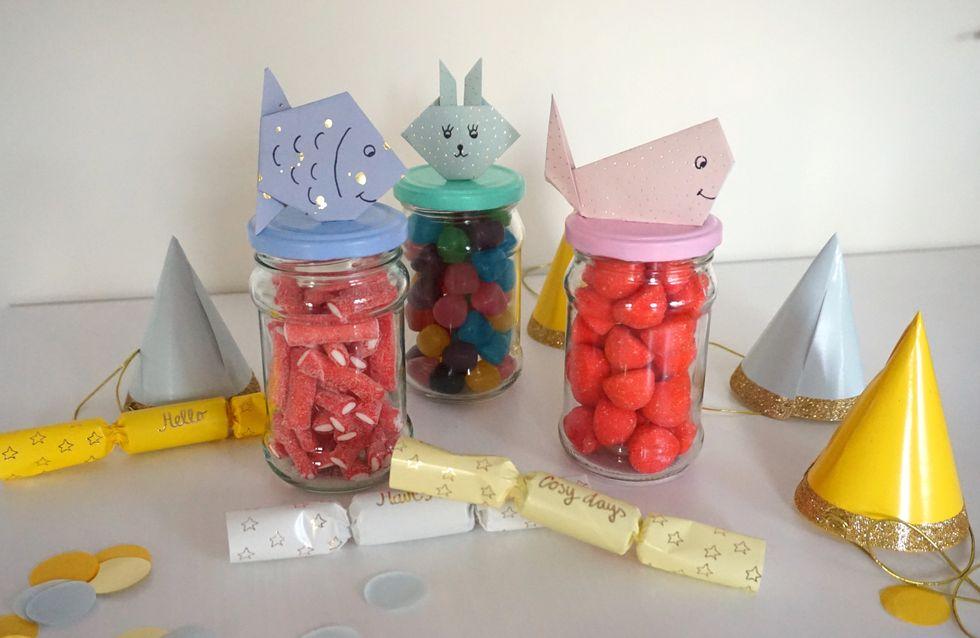 Idée décoration : de jolis bocaux remplis de bonbons pour son anniversaire