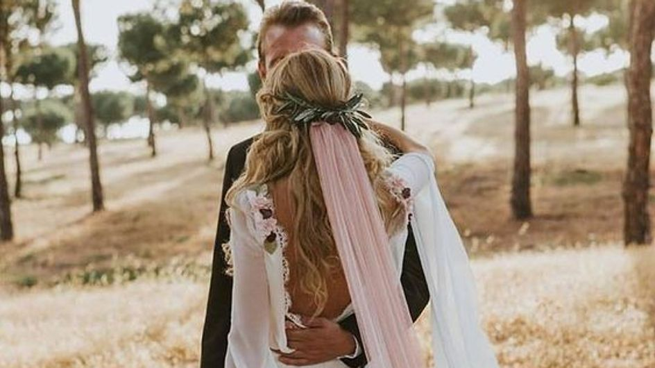 Velos de colores: el toque más original para tu look de novia