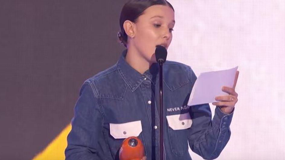 Millie Bobby Brown rend hommage aux victimes de Parkland dans un discours poignant (vidéo)