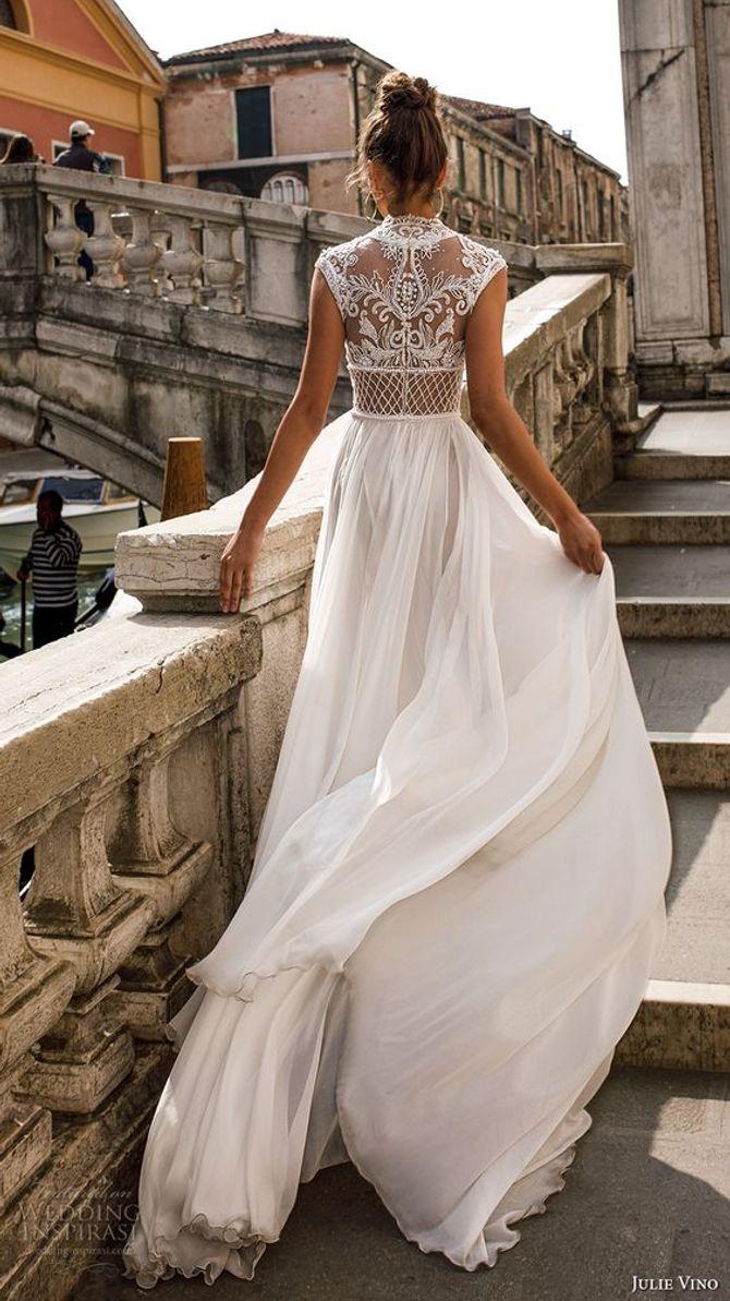 abito da sposa romantico