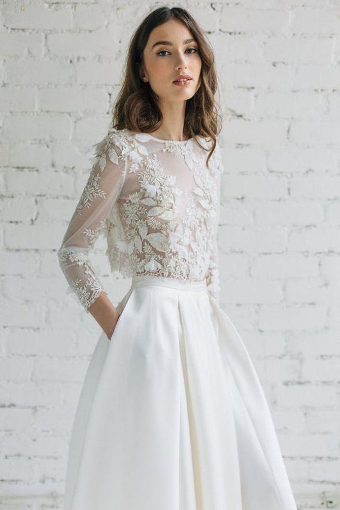 abito da sposa spezzato