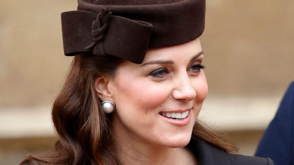 Kate Middleton, plus chic que jamais à quelques jours de son accouchement (photos)