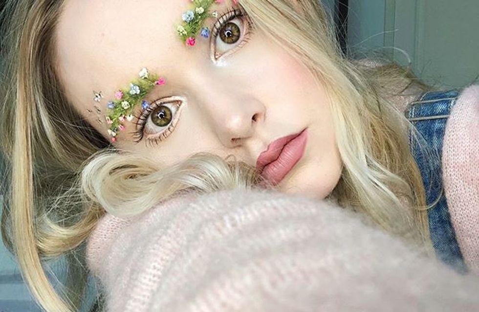 """""""Cejas florales"""", la última tendencia que invade Instagram"""
