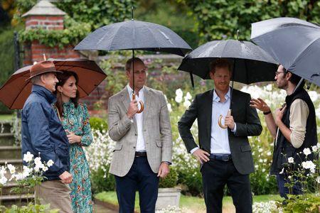 Kate Middleton, William et Harry au Jardin Blanc de Kensington Palace