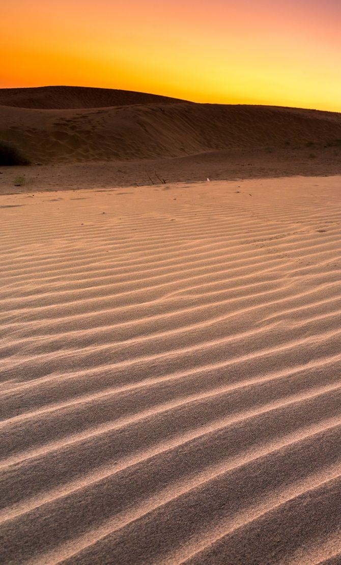 Le désert de Thar en Inde