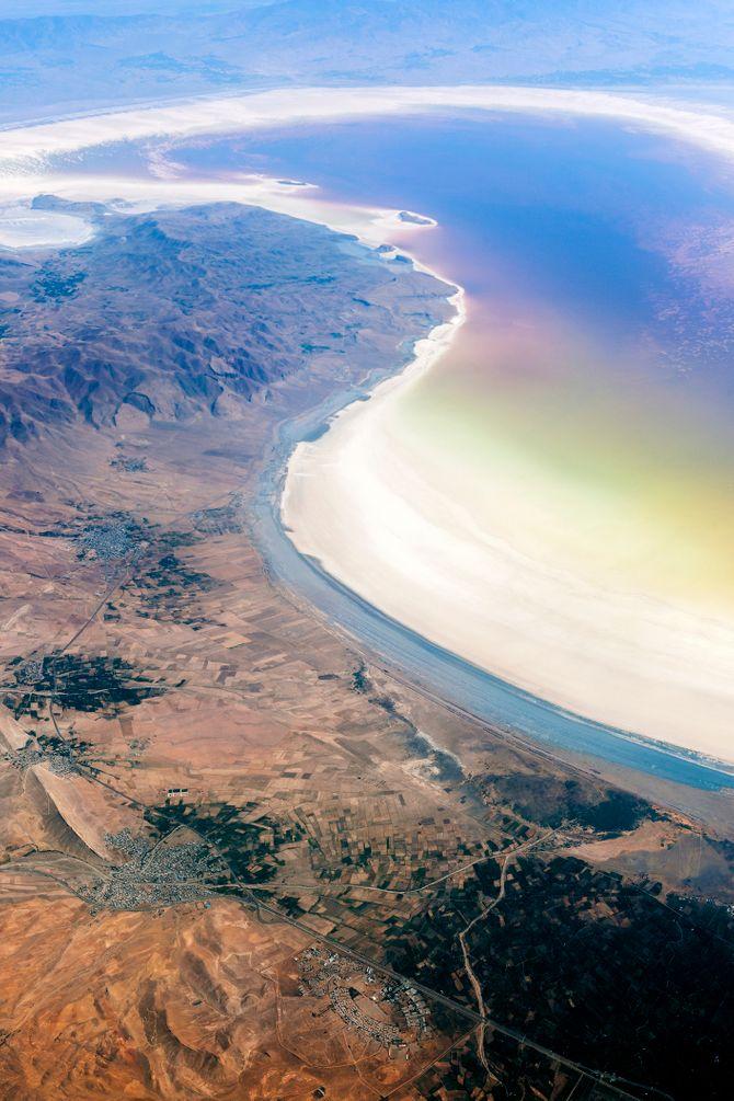 Le grand désert salé d'Iran