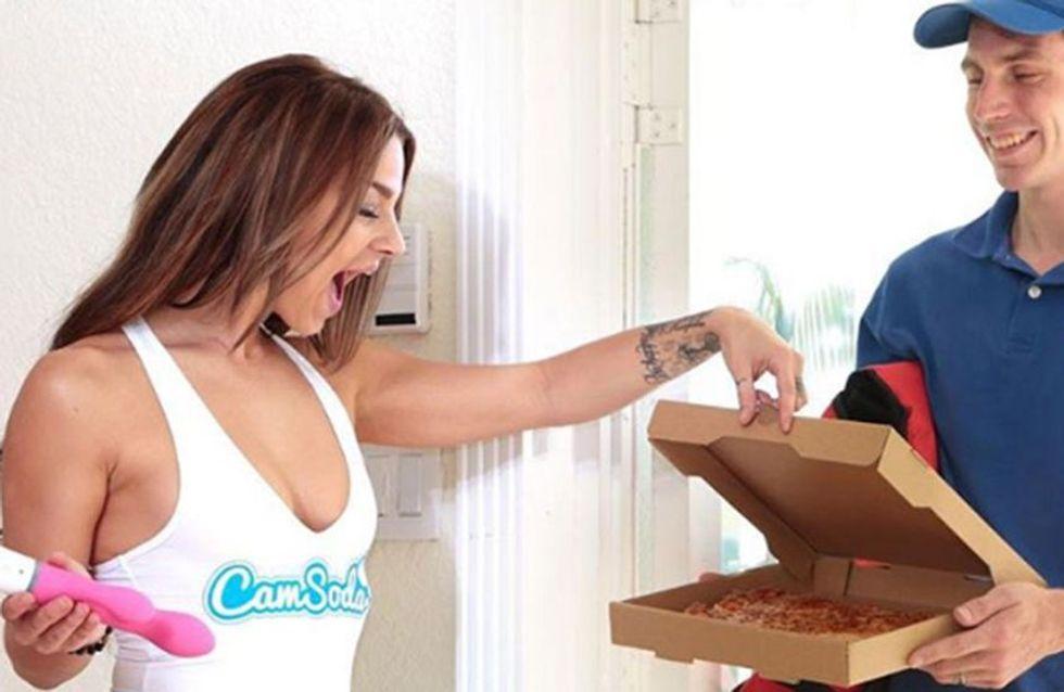 ¿Cómo te quedas? Un vibrador que cuando llegas al orgasmo te pide una pizza