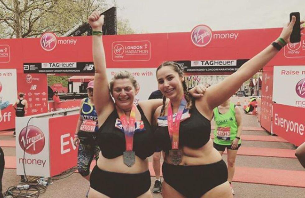 Ces deux femmes ont décidé de courir un marathon en sous-vêtements pour la plus belle des raisons