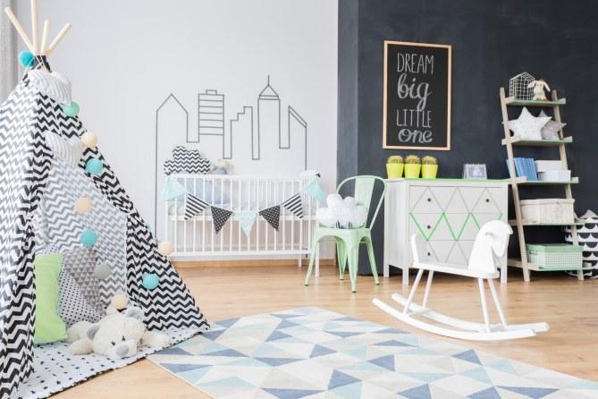 Kinderzimmer-Ideen für die Wandgestaltung