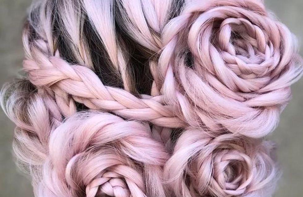 Trenzas con forma de rosa: lo último en Instagram