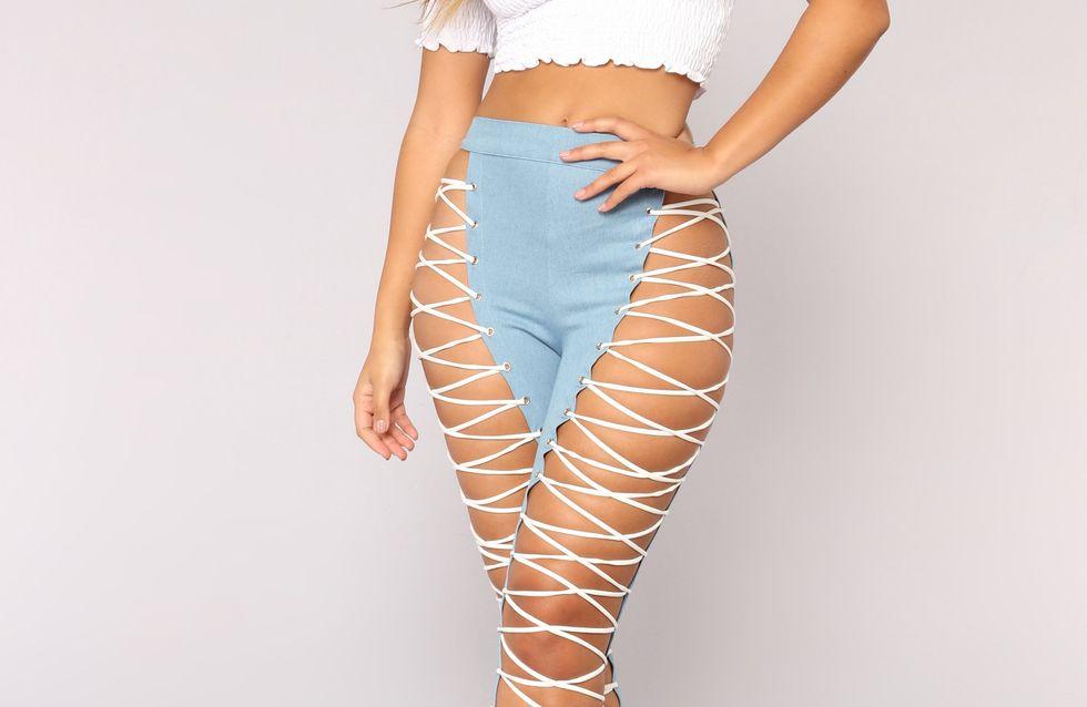 ¡Alerta, tendencia! Los pantalones sin tela están de moda