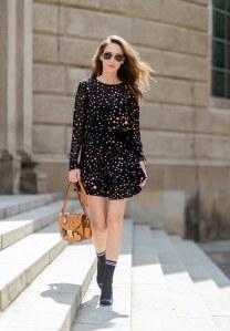 Schwarzes Kleid kombinieren