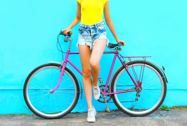Fahrrad Fahren Halt Fit Kalorien Verbrennen Pomuskeln Starken
