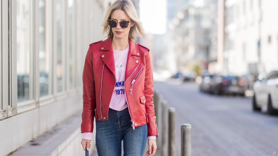 Lederjacke kombinieren: DIESE Looks lieben stylische Frauen