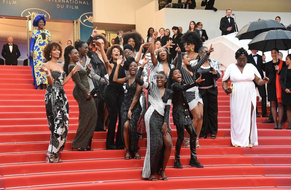 """Les auteures de """"Noire n'est pas mon métier"""" s'offrent une danse sur les marches du Festival"""