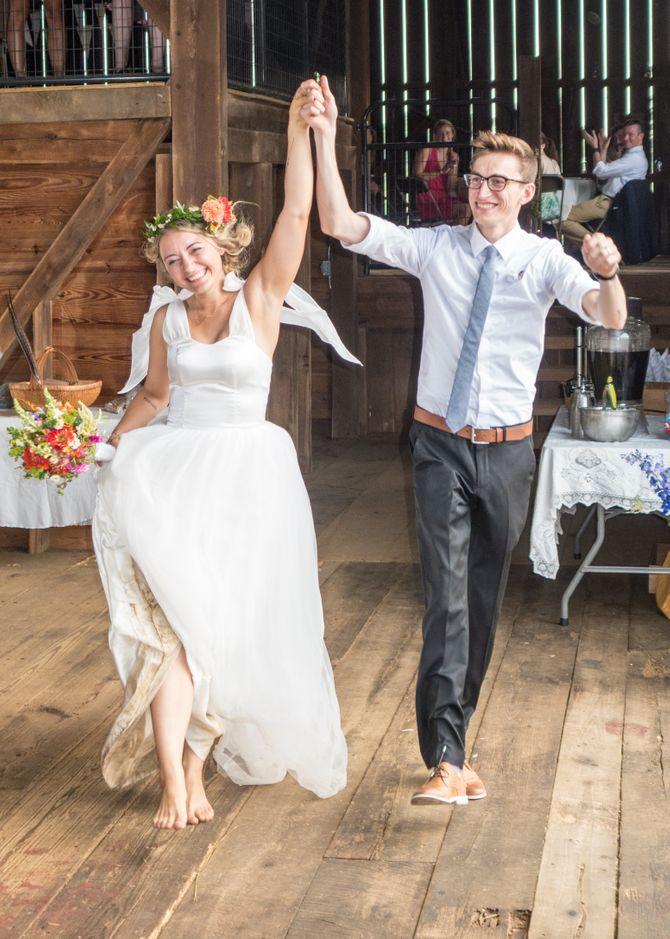 Entrée des mariés en musique