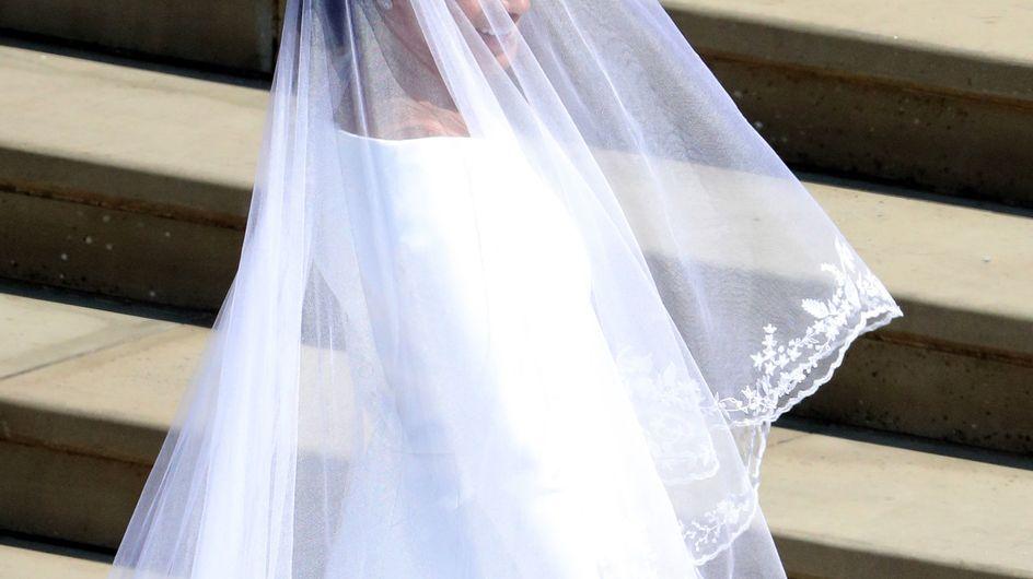 Découvrez en images la somptueuse robe de mariée de Meghan Markle