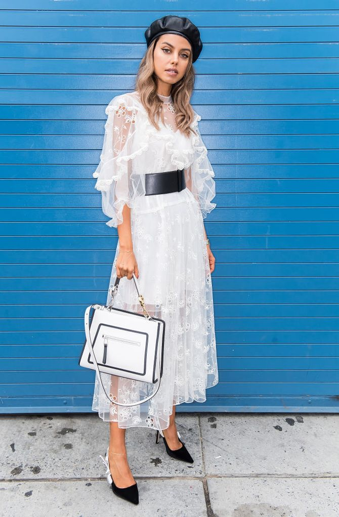 Weißes Kleid kombinieren