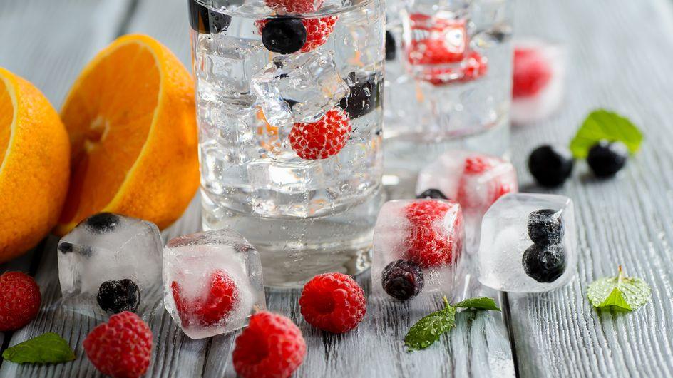 Recette : des glaçons aux fruits rouges