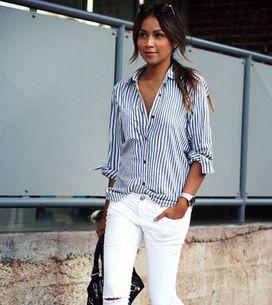 30 ideas para tus looks con pantalones blancos