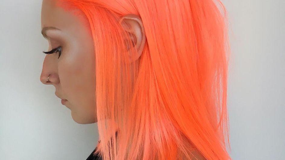 """Les cheveux """"pêche néon"""" ou LA tendance du moment (Photos)"""