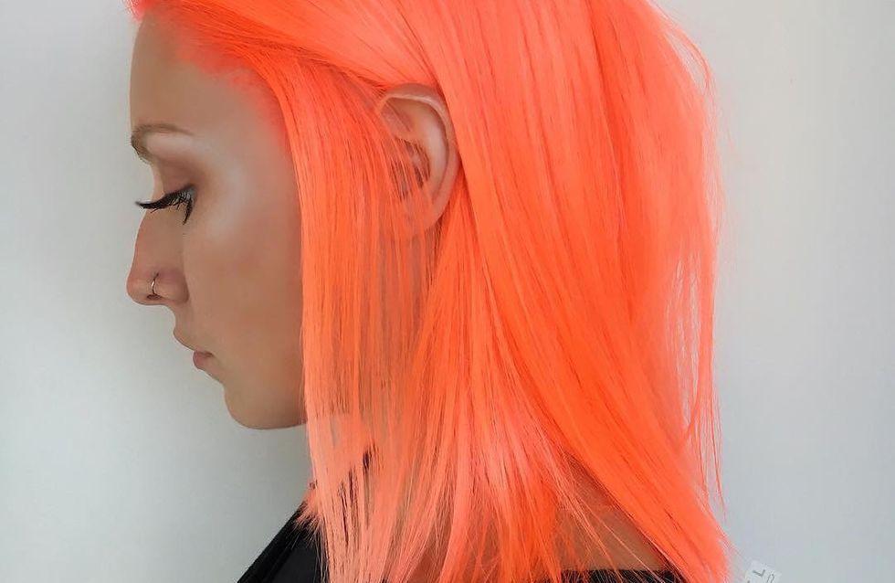 Les cheveux pêche néon ou LA tendance du moment (Photos)