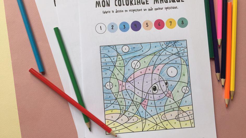 Un coloriage numéroté à imprimer pour les kids !