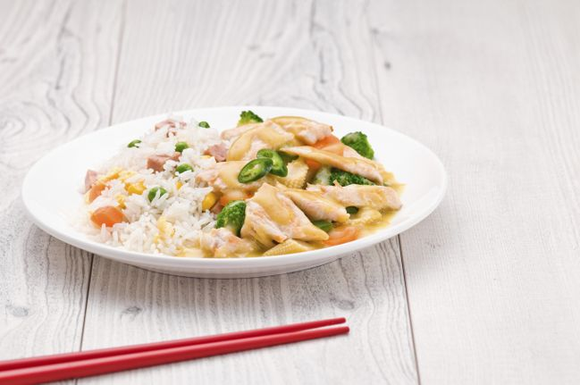 Adelgazar arroz con pollo