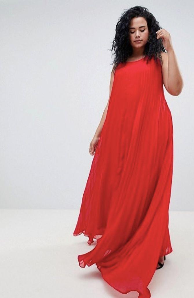 Missguided Plus - Robe longue plissée