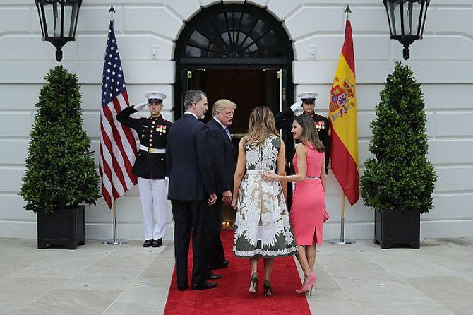 Los Trump reciben a Felipe y Letizia