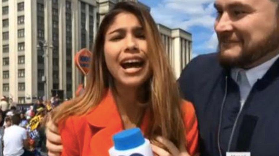Coupe du monde : agressée en direct, cette reporter a la meilleure des réponses (vidéo)