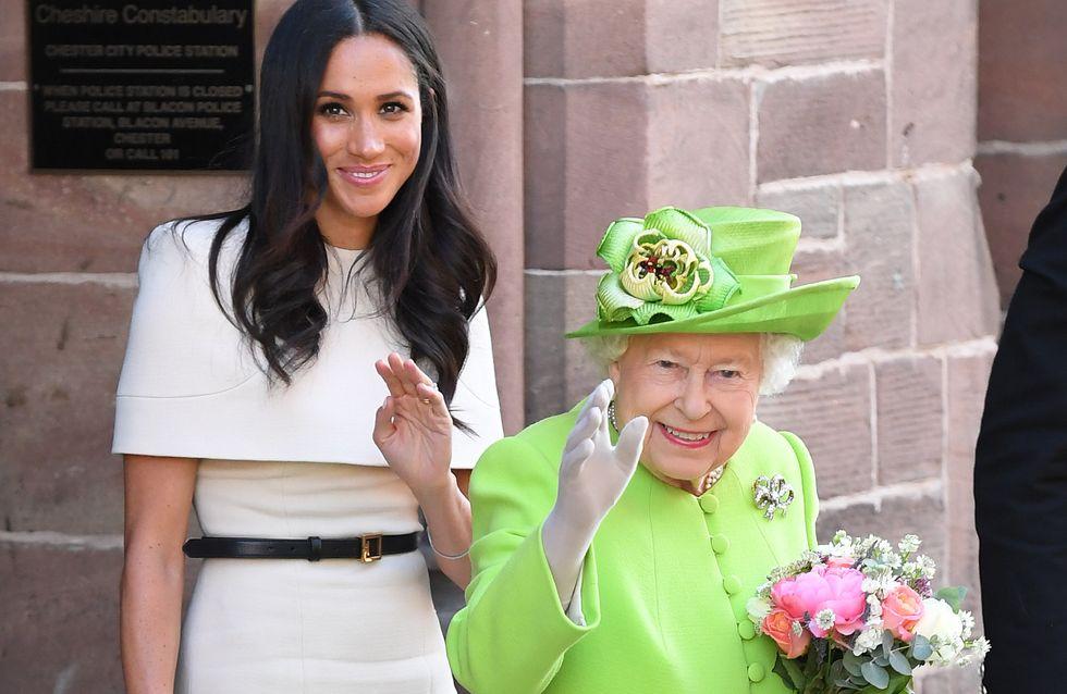 Meghan Markle ne porte jamais de couleurs flashy quand elle est avec la reine