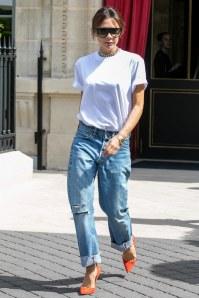 T-shirt bianca di Vittoria Beckham